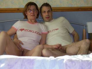 WHAT A GREAT COUPLE, MATCHING SHIRTS AND HOLDING TIGHT.....