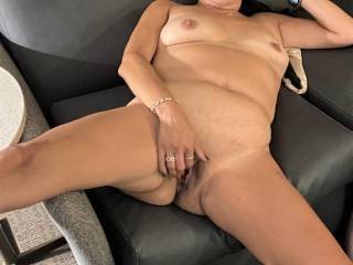 Just a few pics of Melissa masturbating her hot pussy getting ready to fuck my brains out.