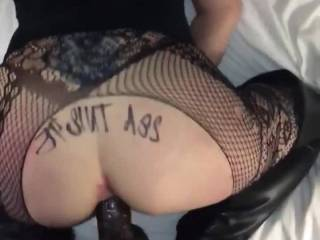 """My good ol ameature days, it wasnt long after this that I earned the title """"Anal Queen"""", nowadays I do anal squats on the dick"""
