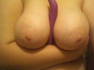 yes, god just like that! i bet she would love feeling this huge cock throbbing between her tits