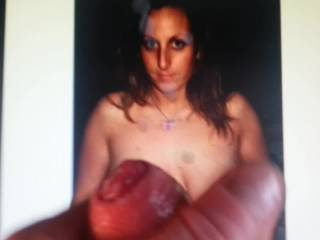 """Having a wank over Busty member """"Hustletime"""" She is one of Zoigs hottest..   Would love to suck her tits or cum on her for real..."""