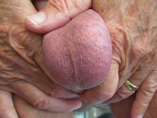 Very nice pair of balls.  Lots of sperm for your hot sexy lady's fertile womb!