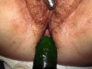Its going into her nice and tight pussy so I can stretch it