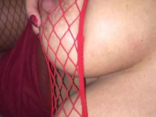 fishnets make it so sexy!