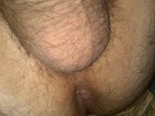 I got another good shot of my anus with a good pic of my big balls as well