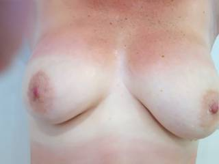 Just come back from topless bathing