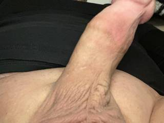 Laying with my dick out