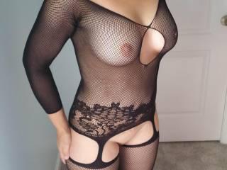 Black lingerie.