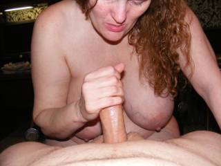 her stroking my cock it feels so good whos next