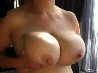 My hubby doesn't leave my tits alone but I do get turned on by having my nipples pulled hard, thank you for your comments guys x