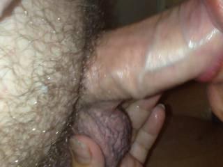 A sensual shot of my wife sucking my big hard cock!