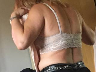 wife getting dressed for a night out....