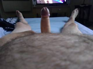 Watching gay porn wishing a man with a big fat cock wants to wank over my cock.