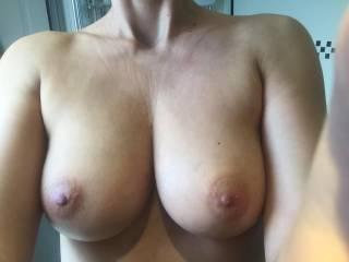 Come play with my tits boys x