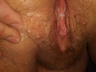 I just pumped my load in her.  Would you lick her pussy anyway?