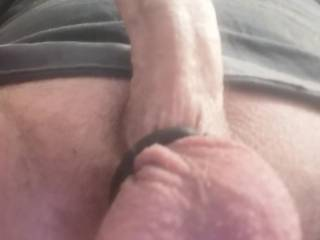 My very hard cock with cock ring aching for a tight pussy or ass to fuck deep and hard.. What you can\'t see is the butt plug I had in! Shot a huge load! Looking for a play mate.. Any takers?