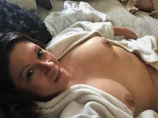 Just sweet Melissa up horny and taking selfies......just another day at our household!