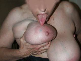 Love playing with and licking my tits