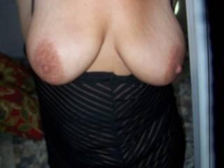 Slutty Stacys big saggy tits who wants to cum on them