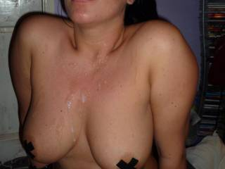 Awesome Tits, and such a beautiful women! Thanks