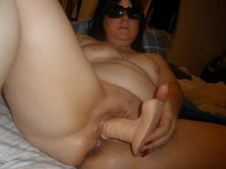 ladies......when you need a man or a helping hand,your big dildo will NEVER let you down!!.......do you like that big dong in my tiny hole?