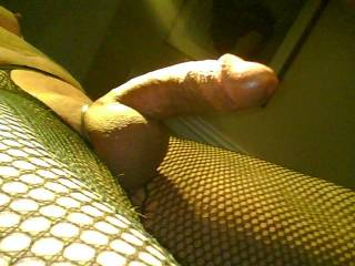 Cock ring and fishnets....who likes this?