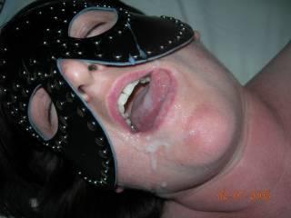 Enjoying a yummy facial!