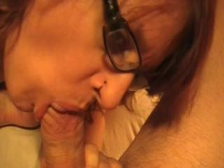 She just loves sucking on my cock
