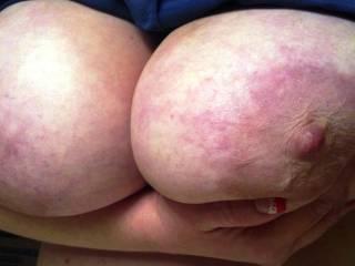 my wifes big soft titties