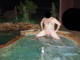 A beauty nature bath, good for hot actions mit hubby too :