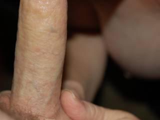 New mature friend enjoying sucking my cock.