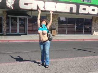 Part 1 - In front of the World Famous Green Door in Las Vegas!