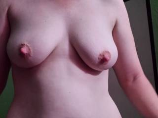 your wife's tits are so damn hot...love her big nipples