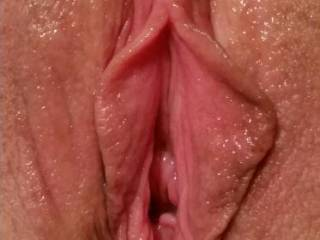 Sweetheart, your pussy is perfect. Hubby commented on the contrast between you little slit and my gapping pussy. I told him that he caused my pussy to be this way so he better enjoy it!