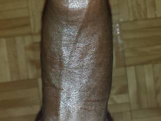 After a few strokes of the flesh light, I was rock hard and my cock was glistening with Lube all over it.
