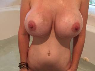 It looks amazing! Would you like to grind it on my throbbing cock as I play with your absolutely sexy tits, so freaking hot!!