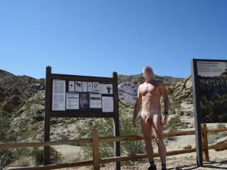 """Continuation of my vacation in Palm Springs photos. Nude hiking at Fortynine Palms Oasis. I did see, or rather they saw me, one couple on the way in who smiled and wished me a """"fun"""" hike and a guy from Australia while I was at the Oasis. He was very nice."""