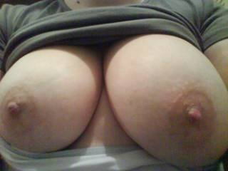 WOW!!! amazing boobs, would love to slide my hard cock between them, and to cum all over your nice nipples and face.