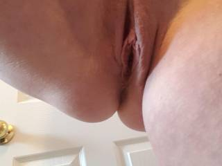 Another self shot while I was in a meeting showing me her gorgeous pussy that she is going to lower on to my face later.