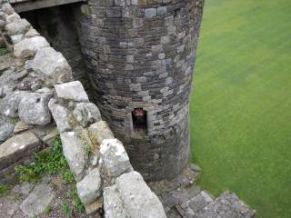 Hard to see on this one but Mrs is flashing from the castle window whilst I am on the battlements with the camera