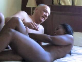 Ebony interracial porn action with porn actress Ana Loxx and porn actor Cane