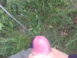 Stopped on our walk for a quick blowjob