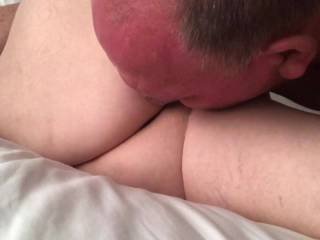 After an amazing orgasm in my 72 year old wife I had to finish pleasing her by licking it up