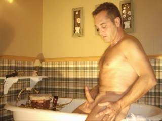 Nothing like a good masturbation to relax after a good bath