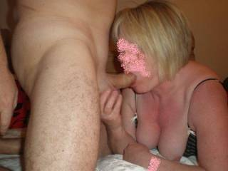 looks deliicous! interested in sharing mmm I do enjoy sharing licking and sucking a hubby's cock with his Mrs - is deliciously lewd and sexy mmmmm