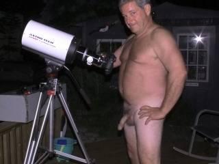 "showing you my big 6"" - telescope"