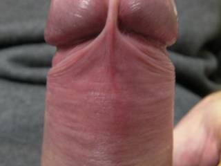The sensitive, rock-hard head of my dick, laid bare for your inspection. What would you do to it?
