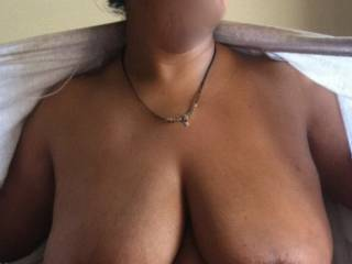 Your wife's big fat saggy udders look amazing, would love to feel their mass