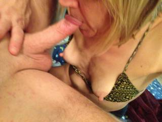 I like it when some of his cum gets on my tits! I think this is a great view of them? Don\'t you?