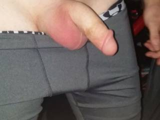 Hubby's nicely shaven cock and balls